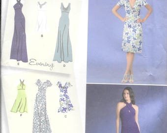 Simplicity 2580 Evening and Day Dress Pattern Sized For Knits Designer Inspiration New Uncut (14-22)