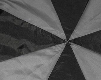 Black and Grey 2 Tone Upcycled Umbrella Dog Rain Coat