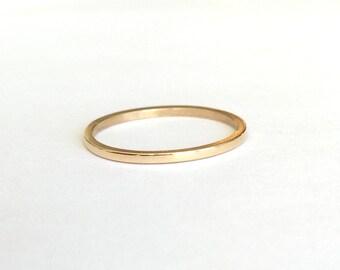14K Yellow Recycled Gold Band, Wedding Ring, Stacking Ring