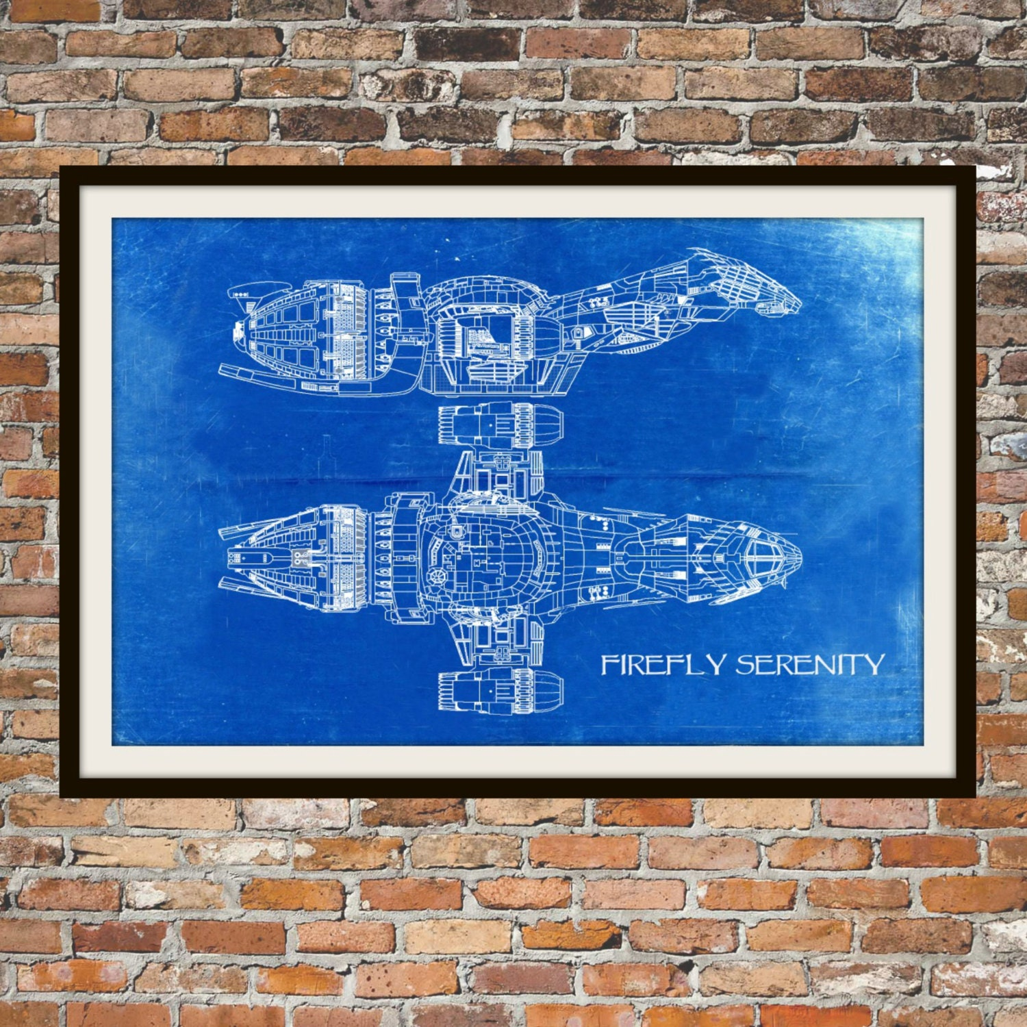 Firefly serenity blueprint art of firefly class technical zoom malvernweather Choice Image