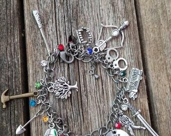 The Walking Dead inspired charm bracelet.