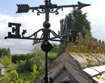 Cast Iron Weather Vanes, Rooster, Cat & Mouse, Horse, Sail Boat - Free Postage in the UK