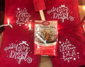 Christmas pot holder gift set