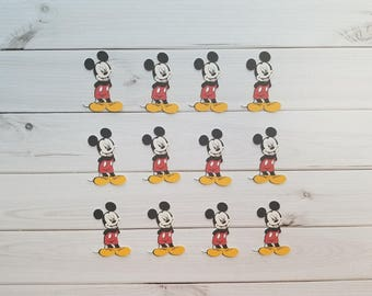 Mickey Mouse Die Cuts, Embellishments, Punches, Punchies,Toppers Scrapbooking, Favors