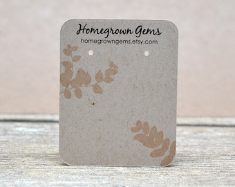 Custom Earring Cards Customized Jewelry Display Cards Background Leaves Branch