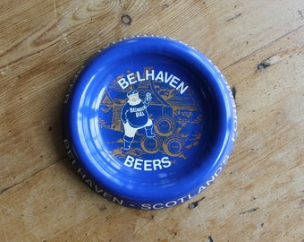 Vintage Bellhaven Beers Advertising Ashtray, Bellhaven Bill, Scotland Pub, Breweriana Tobacciana, Gifts for Guys