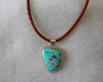 Mystic Sage Turquoise Set In Sterling Silver