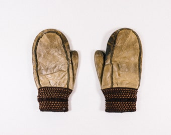 Vintage Leather Mittens