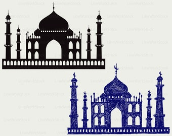 Taj-mahal svg/clipart/temple svg/Taj-mahal silhouette/Taj-mahal cricut cut files/Taj-mahal clip art/digital download/designs/svg