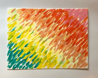 "UP RAIN #3 - 9x12"" ART"