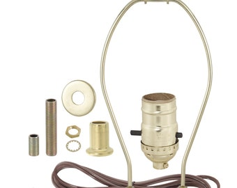 Lamp harps etsy table lamp wiring kit push thru socket antique brass nickel plated or greentooth Gallery