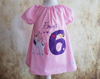 Unicorn Birthday Tunic Pink Wish