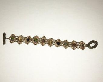 Beaded Bracelet in Warm Tones