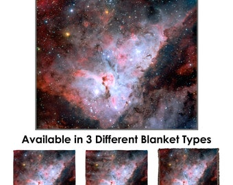 Carina Nebula Throw Blanket / Tapestry Wall Hanging - Standard Multi-color