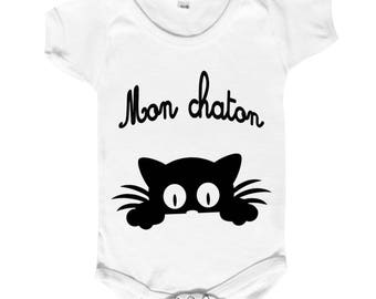 """Funny baby Bodysuit """""""" for our kittens! """""""""""
