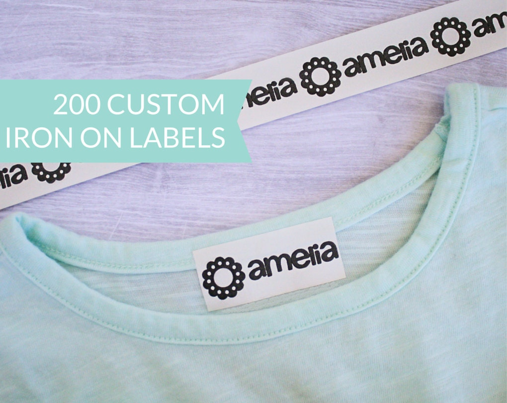 This is a graphic of Candid Custom Iron on Clothing Labels