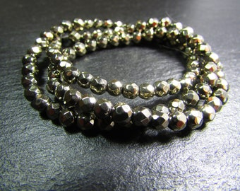 Set of 10 beads of Pyrite
