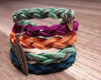 Colorful suede bracelet