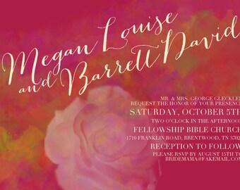 "Custom Wedding Invitation - ""PORTLAND"" (Elegant Floral)"