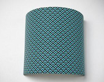 """Applique murale """"Blue scales"""" couleur bleue"""