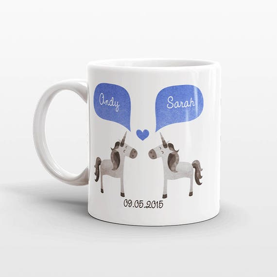 UNICORN Mug Valentines Day Gift for Her for Him Couple Mug Personalized Engagement Gift Anniversary Wedding Gift Unique Coffee Mug Cup