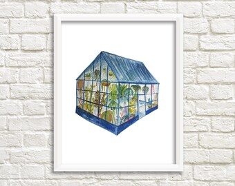 Greenhouse 3 Illustration, Art Print