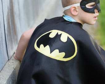 Batman Cape and Mask /Kids Superhero Costume