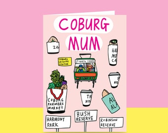 Mother's Day Card  - Coburg Mum