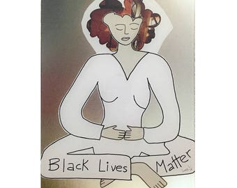 Black Lives Matter Acrylic Print © 2016