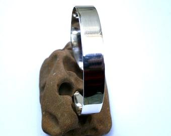 Sterling Silver Cuff Bracelet, Womens Bracelet, Silver Open Bracelet, Circular Copper Bracelet, Handmade Open Bangle, Minimalist Bangle
