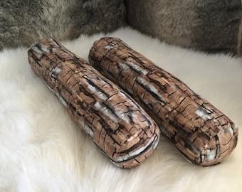 Log Bolster pillows (style #2)