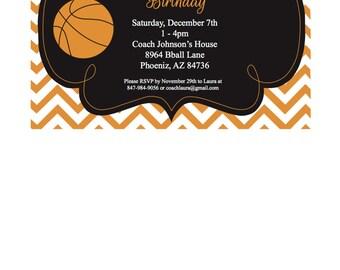 Basketball Birthday Invitation, 5x7