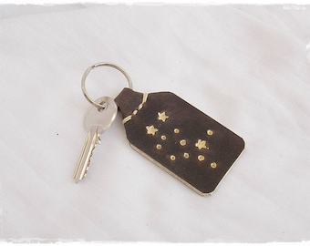 Virgo Constellation Keychain, Custom Zodiac Keychain, Star Sign Gift, Zodiac Virgo Accessories, Personalized Keychain, Birthday Gift