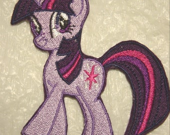 """Adorable Twilight Sparkle My Little Pony embroidered Iron on Patch - Applique -  5"""" x 5"""""""