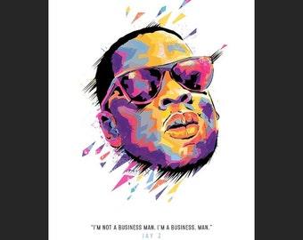 Jay Z print 6'' x 4''