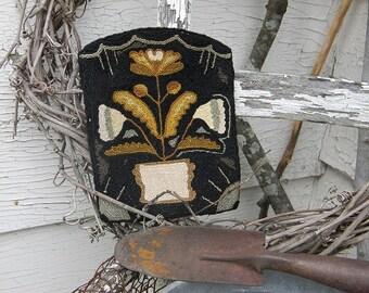 punch needle pattern - Coxcomb & Tulip - from  notforgotten farm