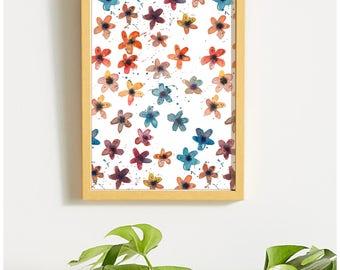 Autumn Daisies Floral Print