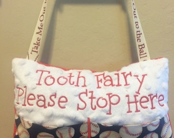Boy Tooth Fairy Pillow baseball personalized