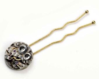 Steampunk Antique Watch Movement Hair Stick