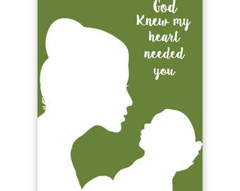New Mum Fine Art Print - First Mothers Day, Mothers Love, Mum and baby Silhouette