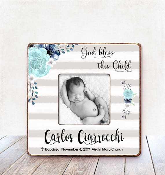 Baptism Gift BOY Christening Gift BOY Personalized Picture Frame ...