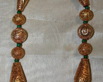 Necklace golden copper tibet nepal