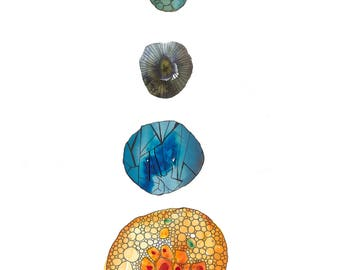 Cellular Structure Art Print