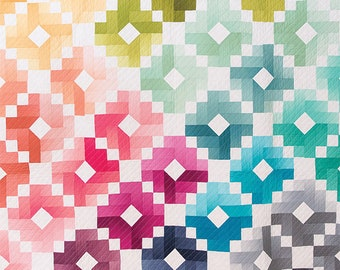 Ombre Gems quilt pattern by Quilty Love  This is for a PAPER pattern