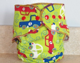 Fitted Medium Cloth Diaper- 10 to 20 lbs- Vehicles- 18010