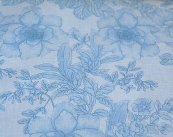 100% cotton fabric.  Extra wide - 275cm. REDUCED PRICE -  dust line down the centre fold which will wash out.