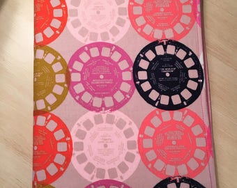 Cotton and Steel Viewmaster Journal-Notebook Included-Refillable-Pink Multi-Vintage-Old School