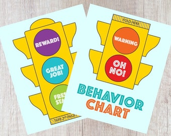 Behavior Chart, Printable Behavior Chart, Rewards Chart, Stoplight Chart, Instant Download
