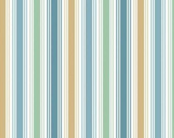 """Andover Fabrics """"Stripes"""" Fabric By The Yard; Beach Comber by Makower UK; TP-1996-1"""