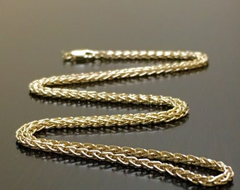 14K Yellow Gold Wheat Necklace - 14K Yellow Gold Chain - 14K Gold Wheat Chain - Yellow Gold Necklace - Yellow Gold Chain - 14K Gold Necklace